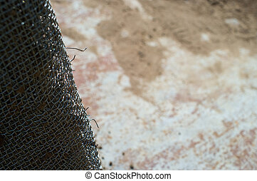 abstract background with metal grid
