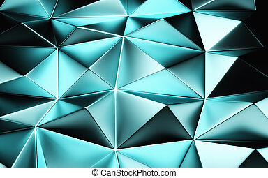 An abstract blue geometrical background. 3D render