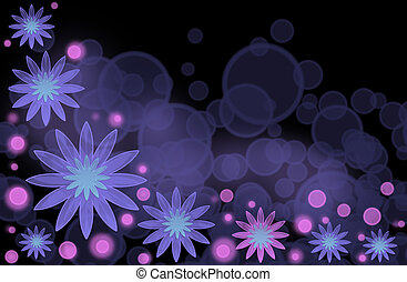 An abstract bright background with lilac flowers