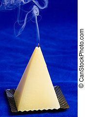 abstract candle smoke
