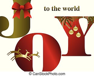 An abstract Christmas background with Joy