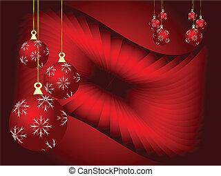 An abstract Christmas vector illustration