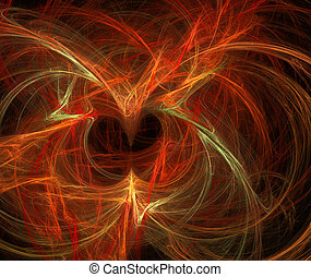 Dance of fire neon lights