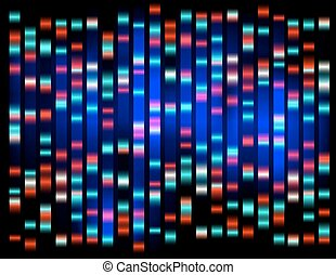 An abstract example of DNA fingerprinting,