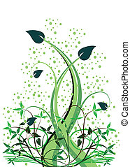 An abstract floral vector ilustration