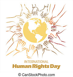 International Human Rights Day - An abstract illustration of...