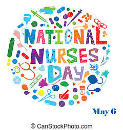 National Nurses Day - An abstract illustration of National...