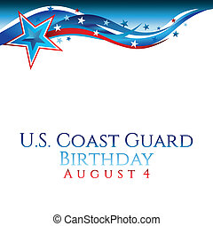 An abstract illustration of stars and stripes for United States Coast Guard birthday