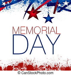 An abstract illustration of the Memorial Day, on a Patriotic background