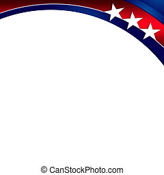 An abstract illustration of United States Patriotic Background