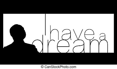 Martin Luther King Day - An abstract illustration on Martin...