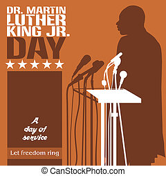 Martin Luther King Day - An abstract illustration on Martin ...