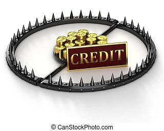 An abstract image of credit slavery