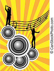 An abstract musical illustration