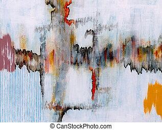 An Abstract Painting - an abstract painting, jagged motif