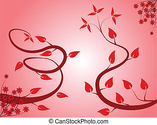 An abstract pink floral background