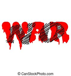 An abstract red No War background image.