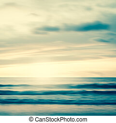 An abstract seascape with blurred panning motion