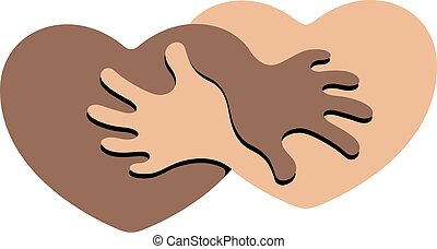 Anti Racism - An Abstract Symbol for Anti Racism Figuring...