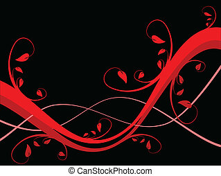 An abstract sytylized floral background illustration