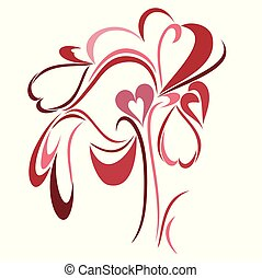 An abstract vector illustration of a Single Love tree