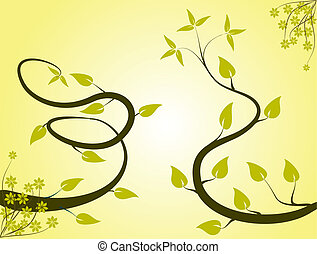 An abstract yellow floral background