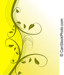 An abstract yellow floral vector background