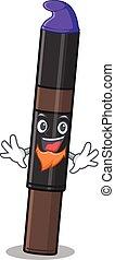 An adorable cartoon design of eyebrow pencil as an Elf fairytale character. Vector illustration