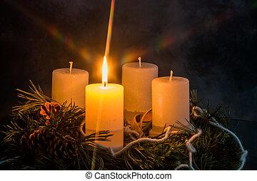 advent wreath for christmas