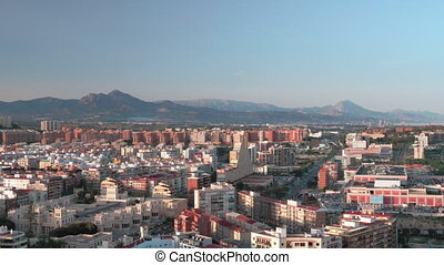 An aeral view of Alicante area on a sunny day - An aeral...