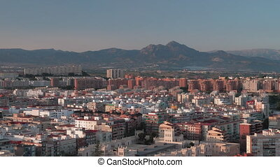 An aeral view of sunny Alicante - An amazing aeral view of...