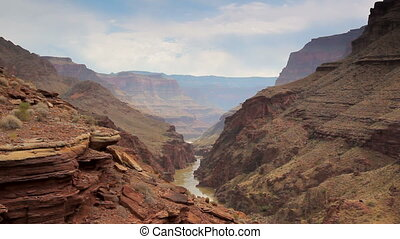 An aerial glimpse of Grand Canyon - A view of the Colorado...
