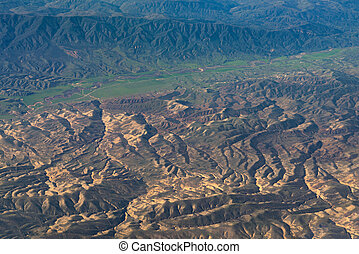 aerial view of California San Andreas - An aerial view of...