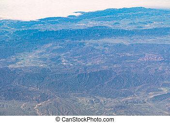 aerial view of California San Andreas