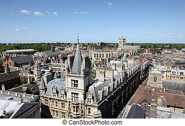 An aerial view of Cambridge's historical buildings -...