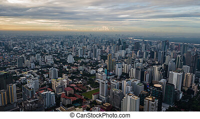 An aerial view of city