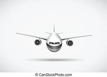 An aeroplane - Illustration of an aeroplane on a white...