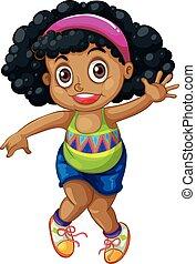 An african girl character