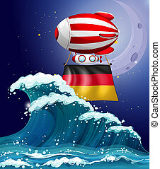 An air balloon with the flag of Germany