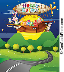 An aircraft carrying a bunny and eggs for Easter -...