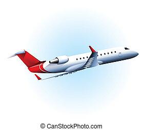 An aircraft flying
