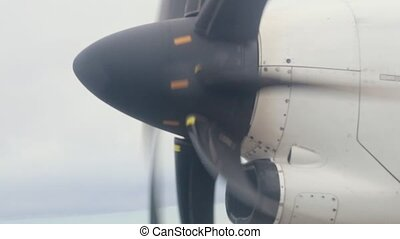 An aircraft turning valve. A view from the airplane window....