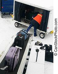 loading baggage