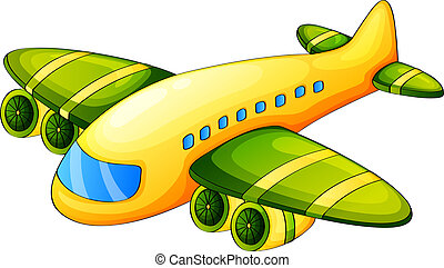 An airplane - Illustration of an airplane on a white...