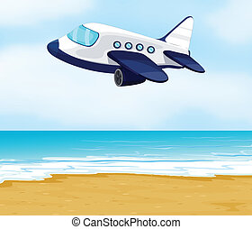 an airplane - illustration of an airplane in a beautiful...