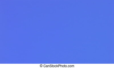 airplane on a blue sky