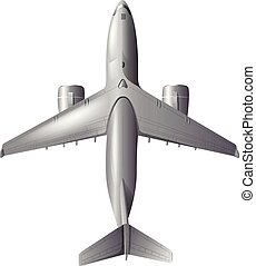 An Airplane on White Background