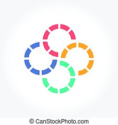 Abstract Colorful Circle Symbol