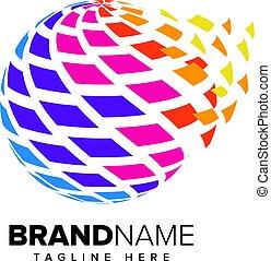 Abstract Pixel Media, Technology Logo