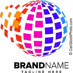 Abstract Pixel Media, Technology Logo